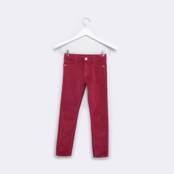Full Length Jeans with 5-Pockets and Button Closure