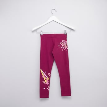 Printed Leggings with Elasticated Waistband