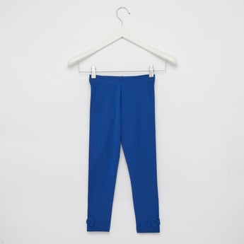Solid Full Length Leggings with Elasticated Waistband