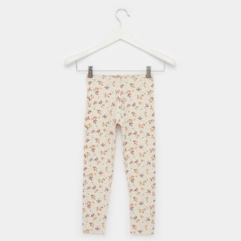 Ditsy Floral Print Leggings with Elasticated Waistband