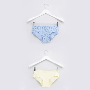 Assorted Hipster Briefs with Elasticised Waistband - Set of 2