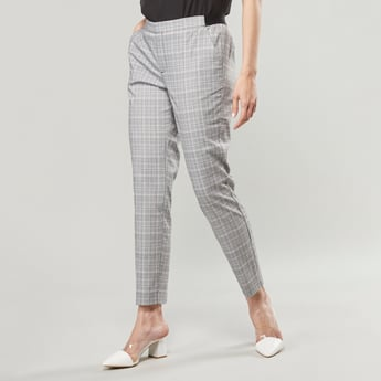 Plaid Trousers with Slip Pockets