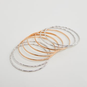 Set of 8 - Textured Bangles