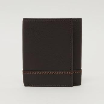 Stitch Detail Tri Fold Wallet