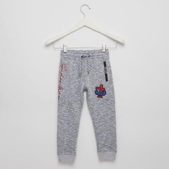Spider-Man Print Jog Pants with Pocket Detail and Drawstring Closure