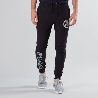Avengers Printed Jog Pants with Pocket Detail and Drawstring