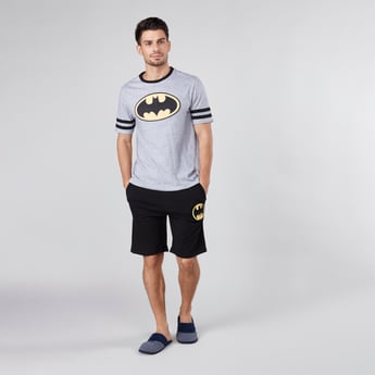 Batman Printed Round Neck T-shirt with Shorts