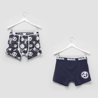 Set of 2 - Avengers Logo Printed Boxer Briefs