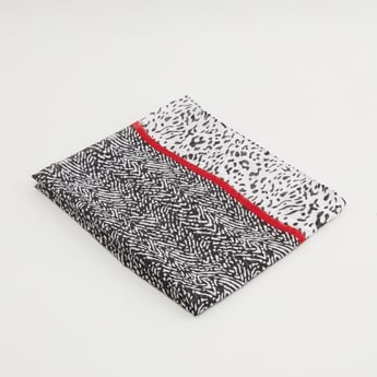 Animal Print Scarf with Tape Detail