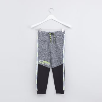 Tape Detail Jog Pants with Elasticised Waistband and Drawstring