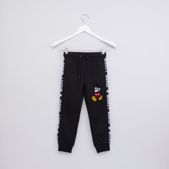 Mickey Mouse Printed Jog Pants with Elasticised Waistband