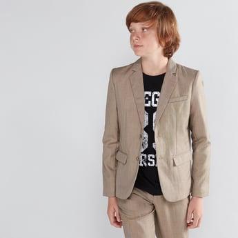 Pocket Detail Long Sleeves Formal Jacket