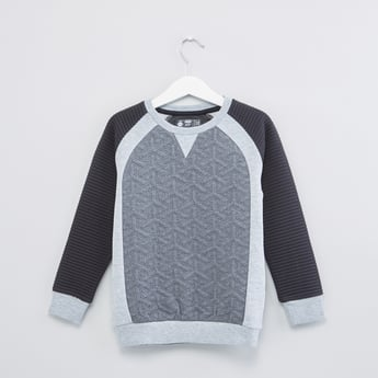 Textured Long Sleeves Sweater