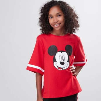 Mickey Mouse Printed Short Sleeves Top