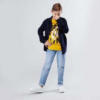 بنطلون جينز طويل بجيوب