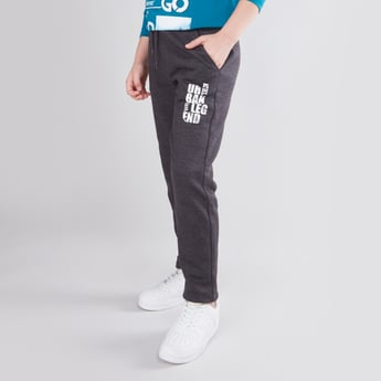 Printed Jog Pants with Elasticised Waistband and Pocket Detail