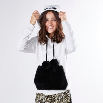 Panda Pullover with Long Sleeves and Hood