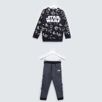 Star Wars Printed Sweatshirt and Pyjamas with Drawstring Closure