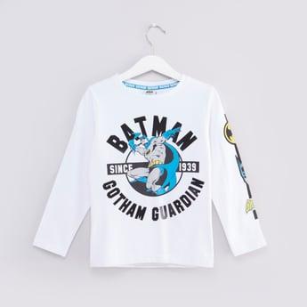 Batman Printed T-shirt with Long Sleeves