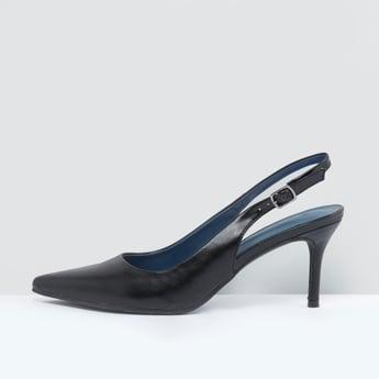 أحذية رسمية بفتحة إصبع وإبزيم إغلاق