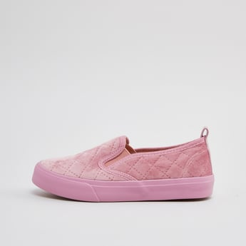Quilted Slip On Loafers