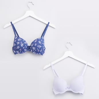 Set of 2 - Plunge Bras with Adjustable Straps