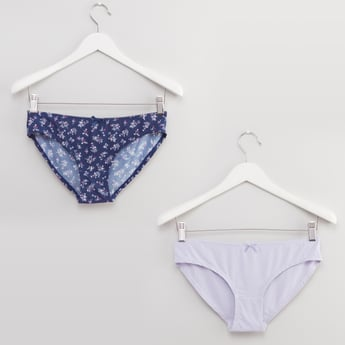 Set of 2 - Bikini Briefs with Bow Applique