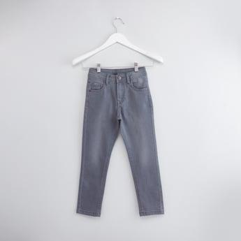 بنطال جينز بزر إغلاق و5 جيوب