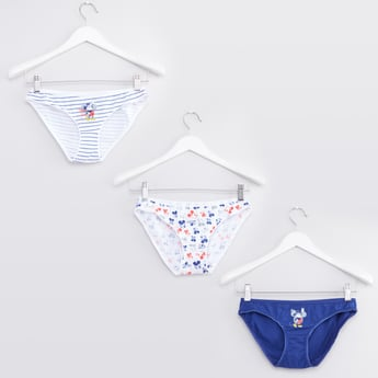 Set of 3 - Mickey Mouse Printed Hipster Briefs