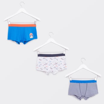 Set of 3 - Printed Trunks with Elasticised Waistband