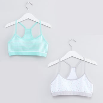 Set of 2 - Printed Racerback Sports Bra