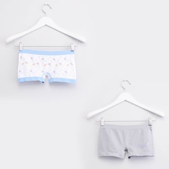 Set of 2 - Printed Seamless Boyshorts with Elasticised Waistband