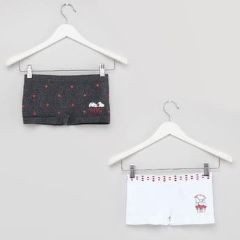 Set of 2 - Snoopy Printed Boxer Briefs
