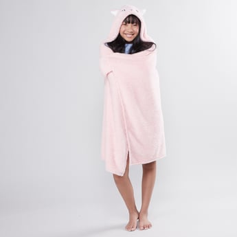 Embroidered Blankie with Hood and Applique Detail