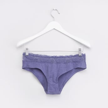 Textured Boyshorts with Elasticised Waistband