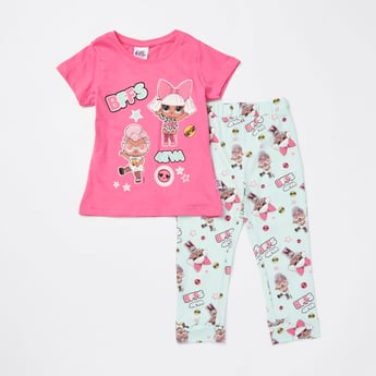 L.O.L. Surprise! Print Short Sleeves T-shirt and Pyjama Set