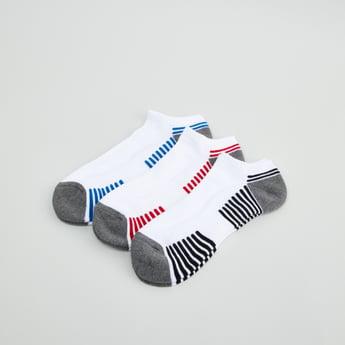 Set of 3 - Striped Ankle Length Sport Socks