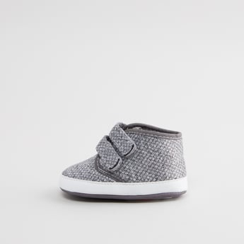 Textured Booties with Hook and Loop Closure
