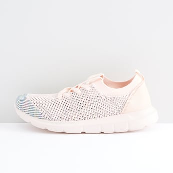Textured Lace Up Sports Shoes