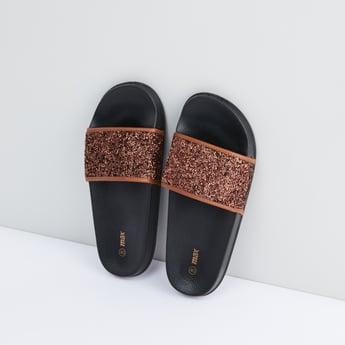 Slides with Embellished Straps
