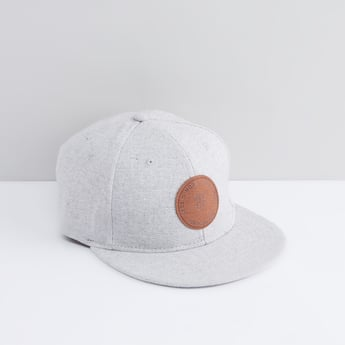 Textured Cap with Badge Detail