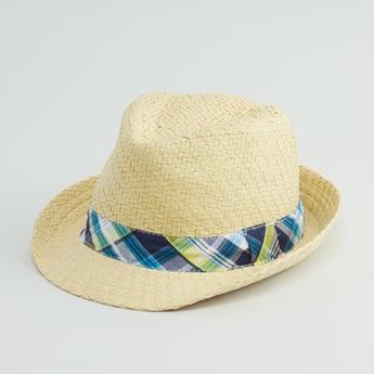 قبعة كوبية بارزة الملمس بشريط