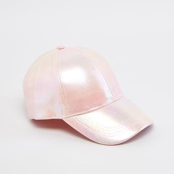 قبعة بارزة الملمس بزر للإغلاق