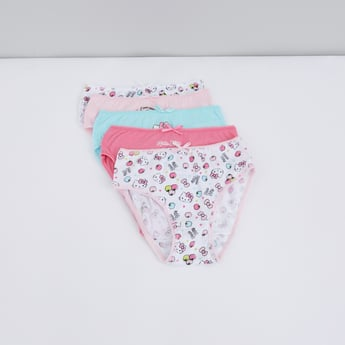Hello Kitty Printed Briefs with Elasticised Waistband - Set of 5