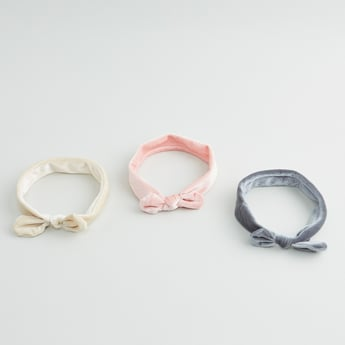 Set of 3 - Hairbands with Knot Accent