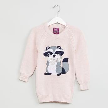 MAX Cartoon Applique Detail Sweater
