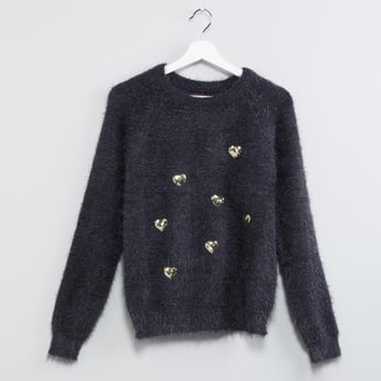MAX Sequinned Speckle Print Sweater