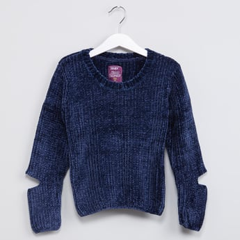 MAX Patterned Knit Sweater with Cutout