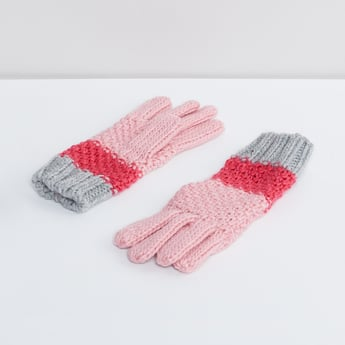 MAX Colour-Blocked Knitted Gloves