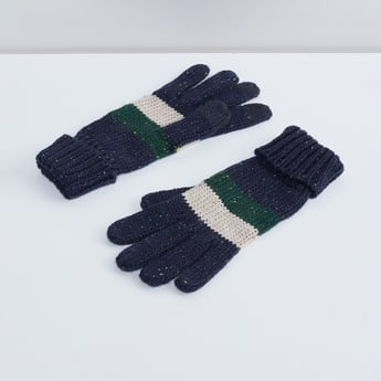 MAX Colourblock Patterned Knit Gloves